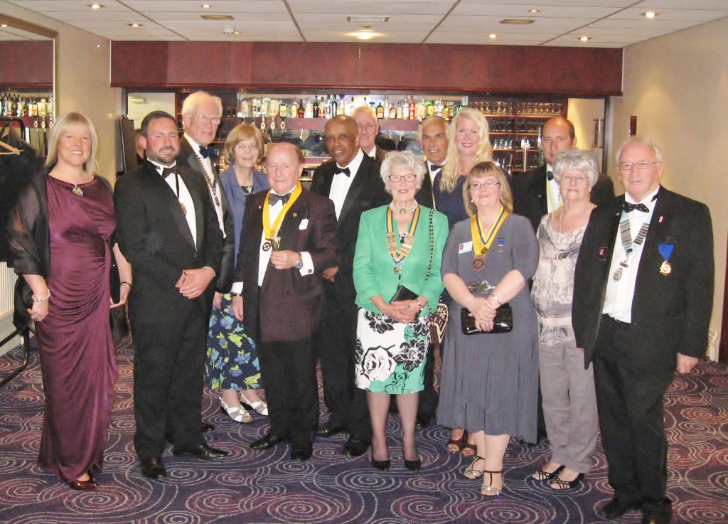 Honoured Guests at the Rotary Club of Chester Deva 2015 Charter Dinner.