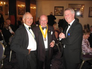 Rtn Brian Wescott (Chester RC), Rtn Gordan Vickers( Ellesmere Port RC), and Rtn Ray Booth.