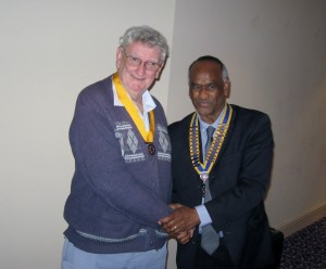 Ken Salter is inducted as Vice President by New President Ty Price.